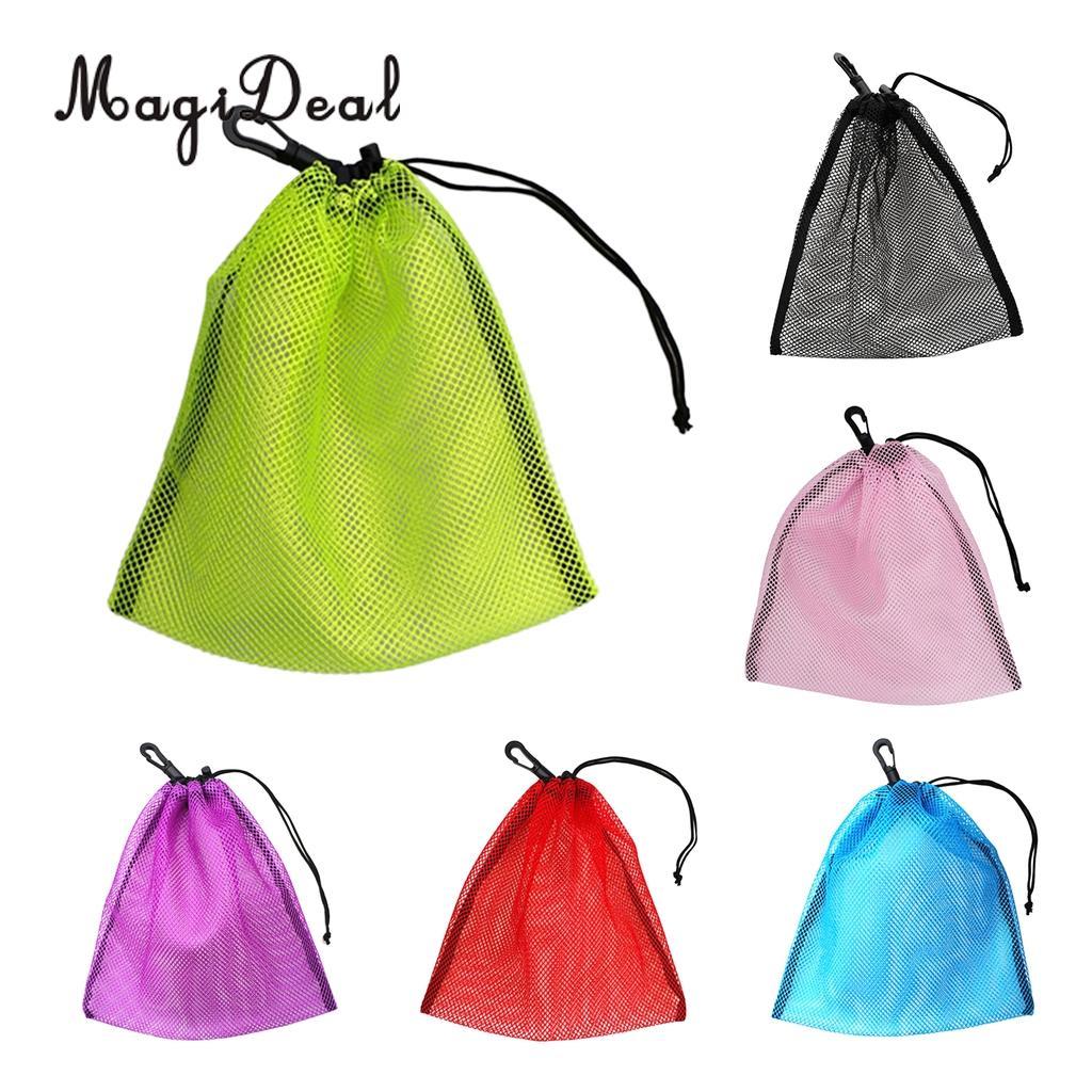 MagiDeal Golf Ball Mesh Bag Durable Nylon Mesh Drawstring Pouch Golf Balls Collector Scuba Diving Accessory Holder Storage Bag