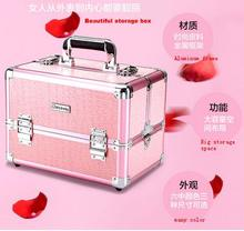 Cosmetic storage box cosmetic case beauty nail tool box portable multi  storey professional cosmetics case with makeup boxes