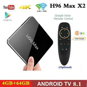 H96maxx2 Android 8.1 TV Box Amlogic S905X2 4GB 32G/64GB 2.4G 5G WF USB3.0 4K HD Smart IPTV M3U Subscription For Android TV Box