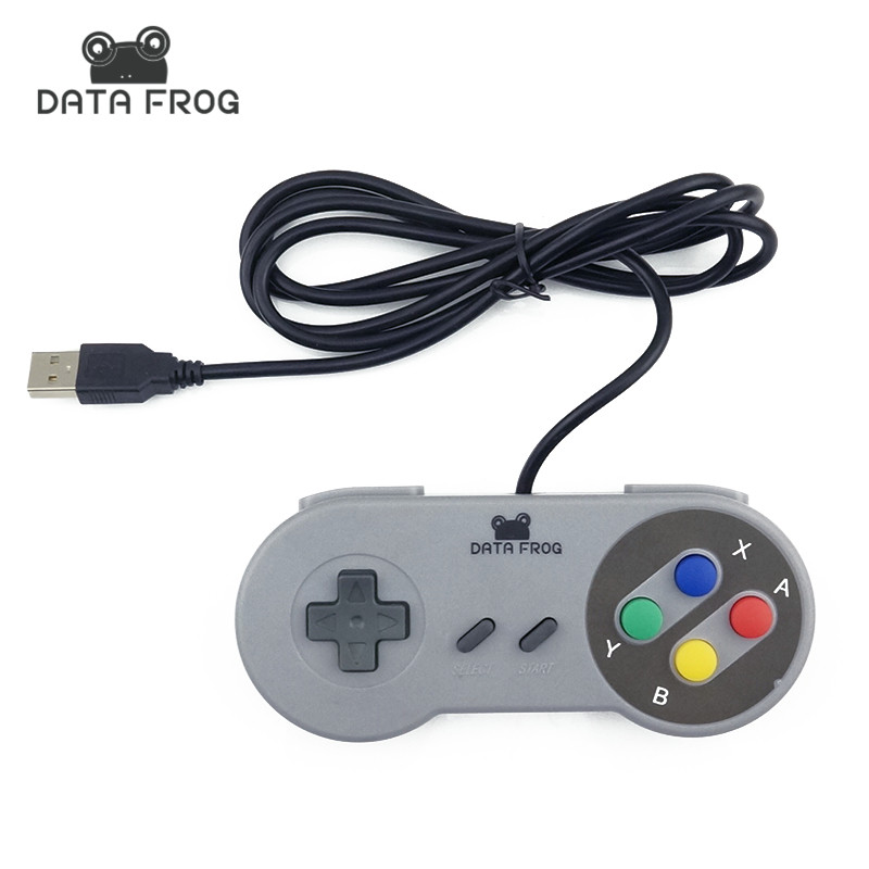 DATA FROG Official Store Retro Super for Nintendo SNES USB Controller for PC for MAC Controllers SEALED