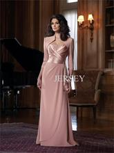 free shipping 2013 customized Plus size vestidos formales long-sleeve design chiffon Mother of the Bride Dresses with jacket