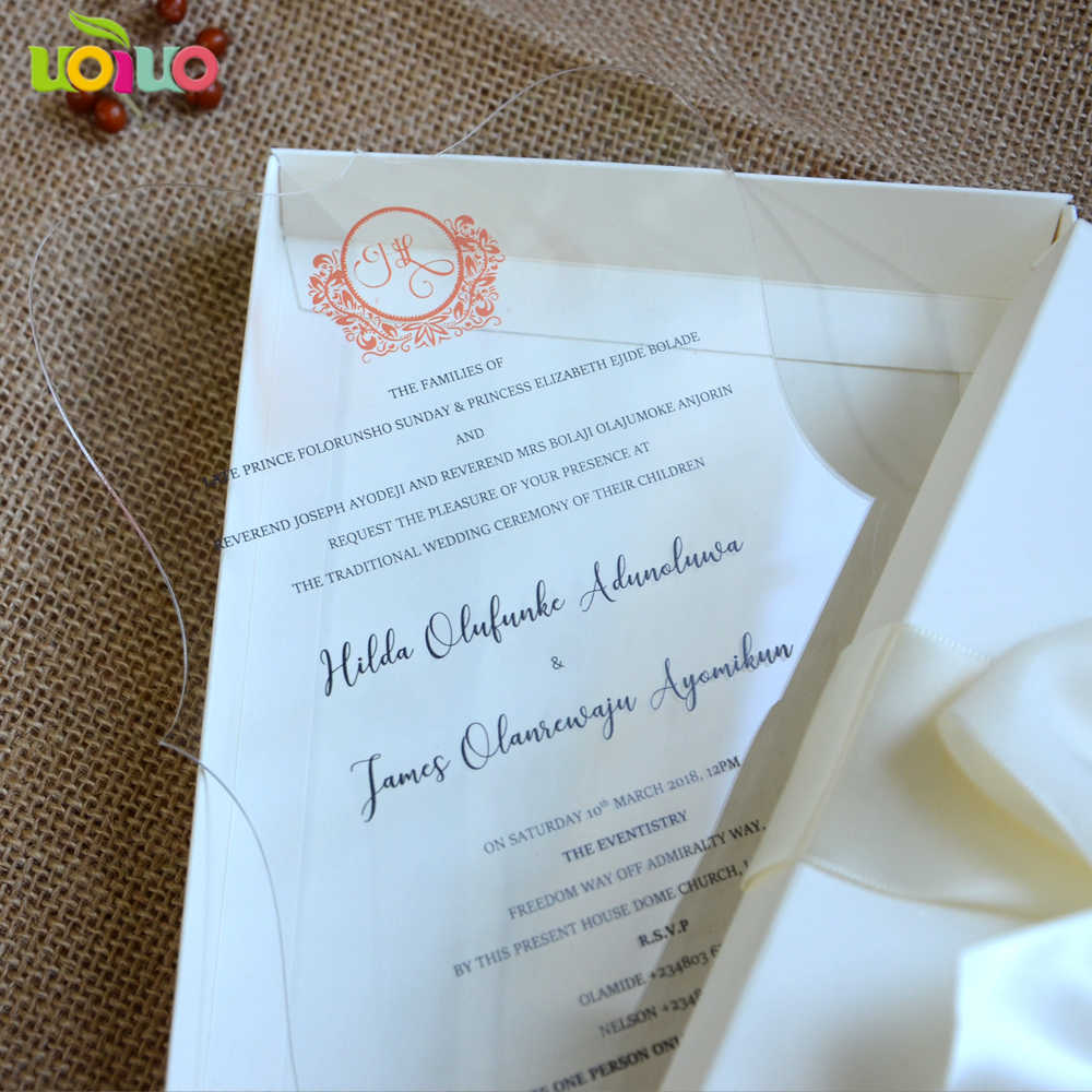 Hot sell unique indian wedding invitation card wholesale price lace acrylic  laser cut wedding invitations with box