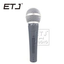 Marca de Alta qualidade SM 58SK ETJ Frete grátis handheld Karaoke microfone com fio dinâmico vocal microfone SM 58