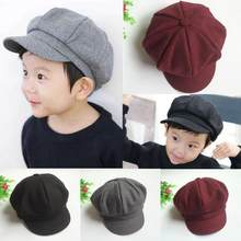 b2cd29f9b4943 Hot Baby Kids Toddler Infant Dome Beret Cap Headwear Levert Dropship  Octagonal Hat Beret Cap Levert