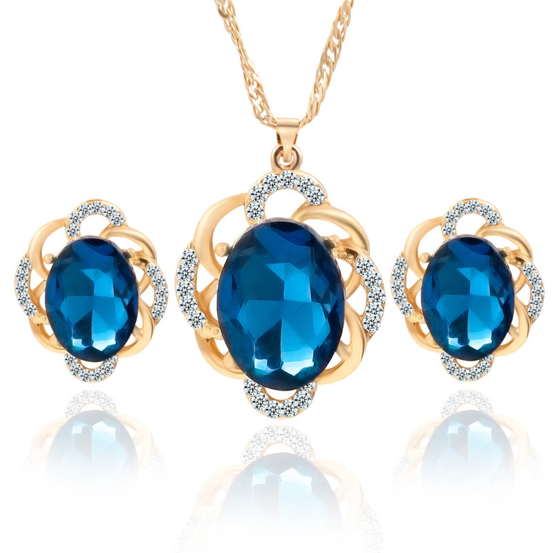 Online Buy Wholesale queen blue necklace and earrings from China ...