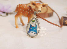 Totoro Silver Plated chinchillas Necklace