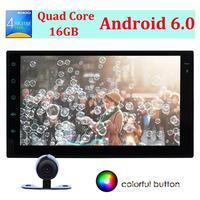 7 Car Radio Stereo 2Din Head Unit Android 6 0 Quad Core Support GPS Bluetooth Autoradio