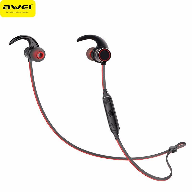 2018 AWEI AK9 Senza Fili di Bluetooth di Sport Auricolare Magnetica IPX4 Impermeabile Auricolare per Il Iphone per Huawei Smartphone