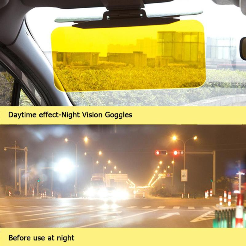 Anti Sonnenlicht Dazzling Goggle Tag Nacht Vision Rückspiegel UV Falten Flip Unten Clear View Fahrzeug Schild Auto Innen Zubehör