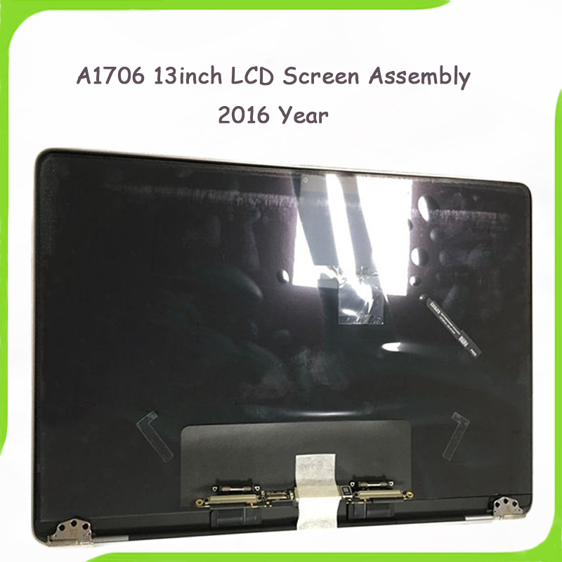 Véritable 98% Nouveau A1706 A1708 Gris Argent Couleur pour Macbook Pro Retina 13 A1706 A1708 LCD Écran Assemblée Fin 2016 Mi 2017