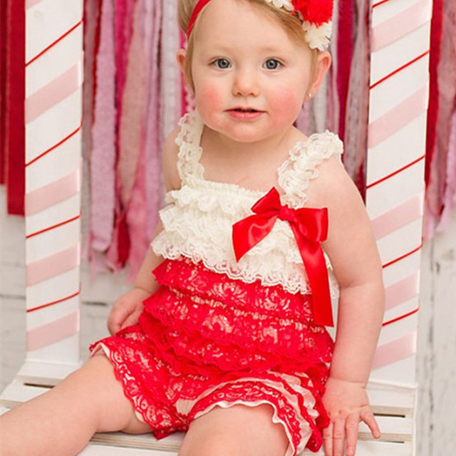 Christmas Jumpsuit Baby.Baby Girl Christmas Lace Rompers Newborn Baby First Christmas Outfit Xmas Jumpsuit Baby Clothes