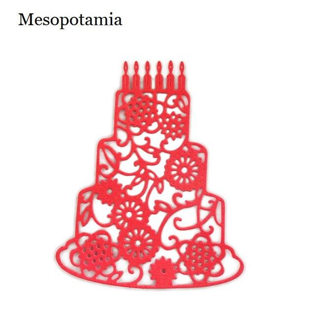 Diy Scrapbooking Big Dies Ablum Metal 3d Happy Birthday Cake Hot
