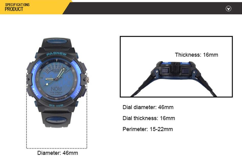 2018 Free Shipping Fashion Men Watch Waterproof Sport Men Wristwatch S Quartz Digital Boy Clock Relogio Masculino (5)