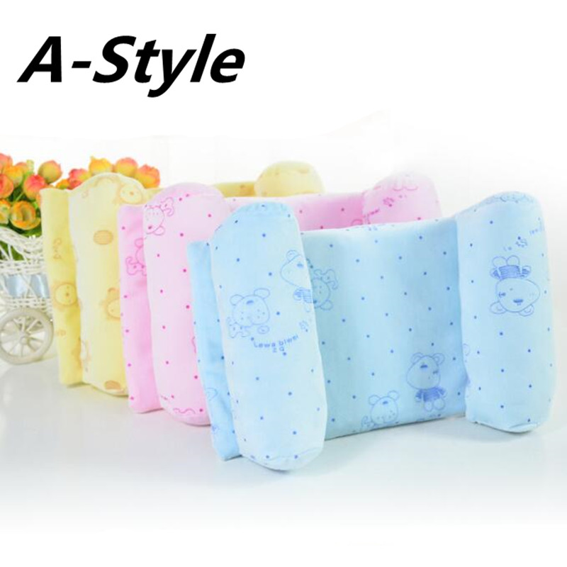 A-STYLE Super Soft Baby Pillow Newborn Pillows Safe Anti Roll Infant Pillow Sleep Head Positioner Preventing Flat Head
