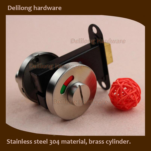 Public Bathroom Partition Accessories / Stainless Steel 304 Toilet  Indication Locks, Brass Cylinder