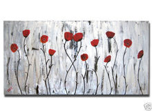 No Framed!!! Modern Wall Deco Floral Art Abstract Flower Oil Painting On Canvas art deco modern abstract wall art painting on canvas no framed with the roll film d10 19