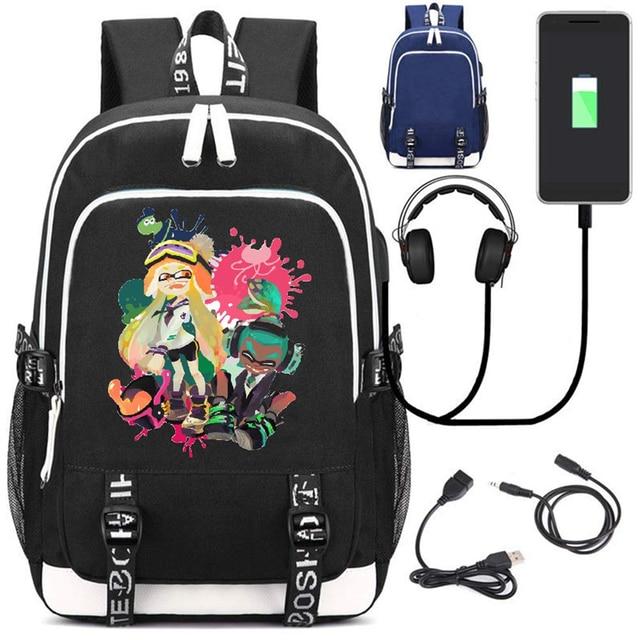 Рюкзак Splatoon USB зарядка и кабель бесплатно 2
