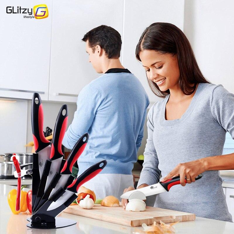 Keramische mes keuken 3 4 5 6 inch koksmes houder met dunschiller - Keuken, eetkamer en bar - Foto 4