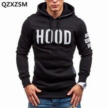 Qzxzsm Мужчины sweatershirt Новинка 2017 модная повседневная мужская с капюшоном Печать пуловер с капюшоном