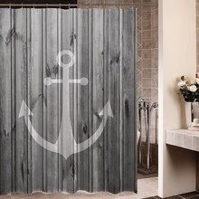 geheugen thuis rustieke grijs anker interieur badkamer decorating set stof waterdicht polyester met haken