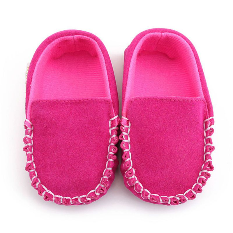 Newborn Baby Boy & Girl First Walkers Moccasin PU Leather Cute Lace Bow-knot Shoes For Kids 2