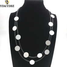 YD&YDBZ New Womens Lucky Neck Jewelry Simple Style Diy Handmade Rubber Necklace Small Soft Foam Aluminum Pendant Necklaces Punk