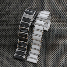20mm 22mm Ceramic Stainless Steel Watch Band watchband watch strap Butterfly Buckle wristband