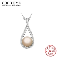 Collares de Plata de ley 925 Colgante Collar de Cadena de Eslabones de Joyería de Moda Collares para Las Mujeres Collares Regalo de Boda AJN096