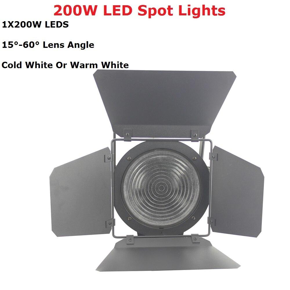 Portable New LED Spot Lights 200W Warm White / Cold White Optional LED Flat Par Lights IP20 Good For Stage Dj Lighting Shows цена