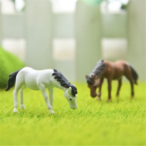 Micro Landscape Resin Crafts Mini Craft Micro Cute Cartoon Horse Landscape Fancy Fairy Garden Miniatures