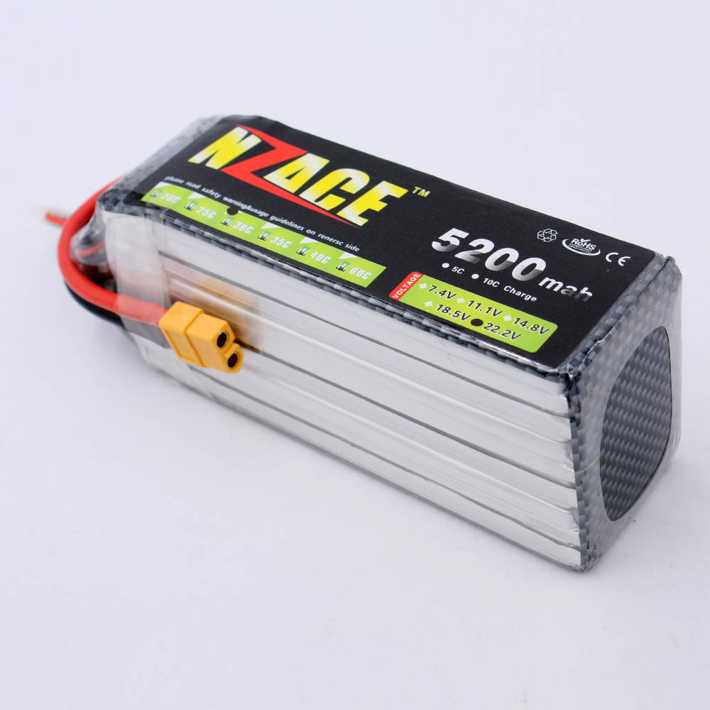 NZACE POWER 6S lipo battery 22.2v 5200mah 30c rc helicopter rc car rc boat quadcopter remote control toys Li-Polymer battey xxl a grade 4s lipo battery 14 8v 5200mah 30c helicopter rc car quadcopter remote control toys li polymer battey rc parts