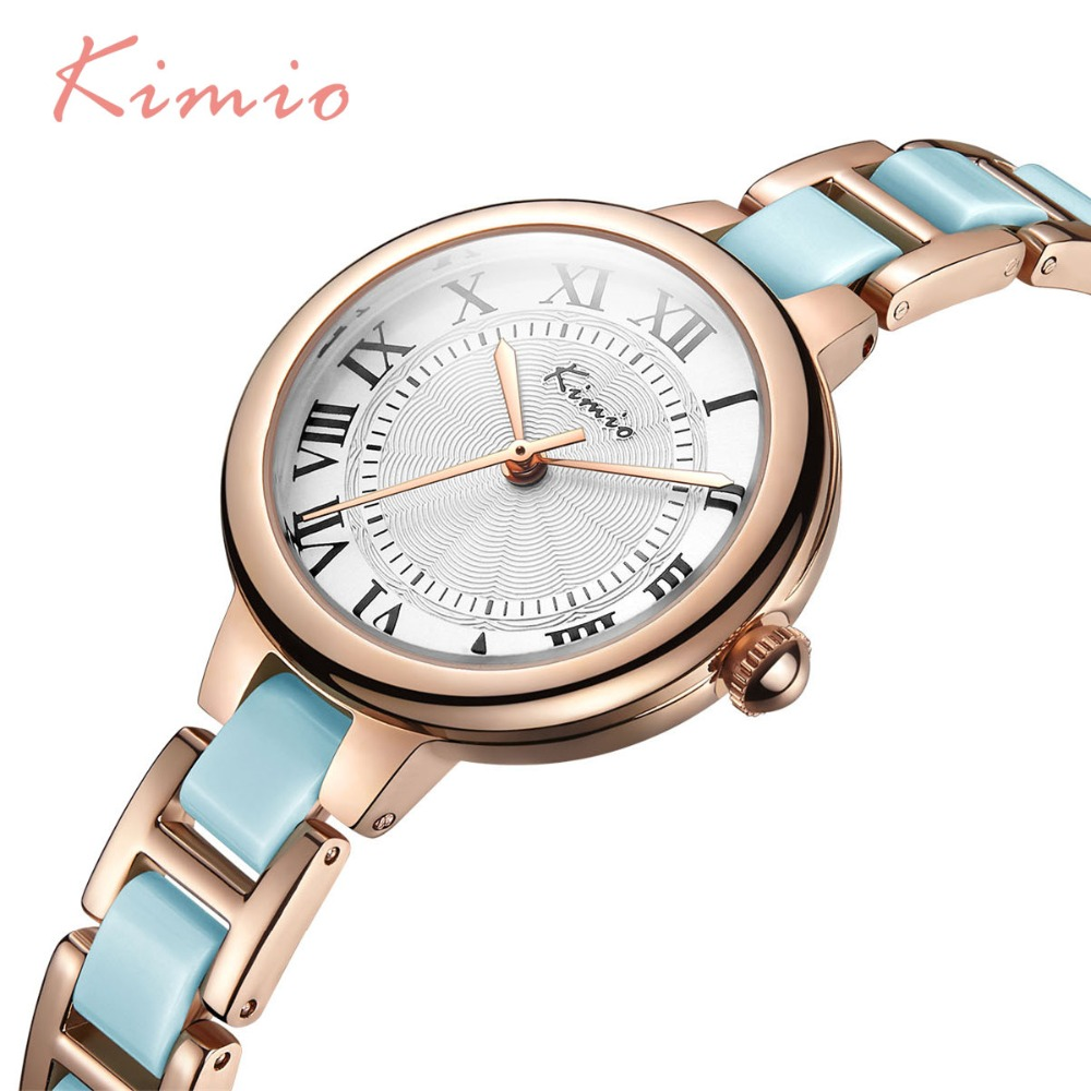 791b2654ce88 2018 Venta caliente famosa marca Kimio reloj de lujo mujeres pequeño cuarzo  reloj banda de cerámica señoras de la manera pulsera Relojes Mujer reloj en  ...