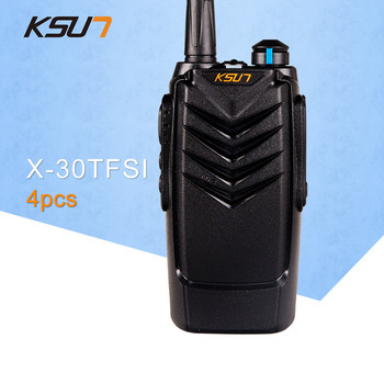 (4 PCS)KSUN X-30TFSI Two Way Radio Handheld Portable Radio UHF 400-470MHz Ham Radio BUXUN X30 Walkie Talkie