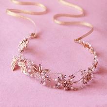 Stunning Gold Handmade Rhinestone Wedding Hair Accessories Vine Vintage Bridal Headband Headpiece