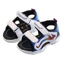 Новинка года; летняя пляжная обувь с открытым носком для маленьких девочек и мальчиков; сандалии; кроссовки