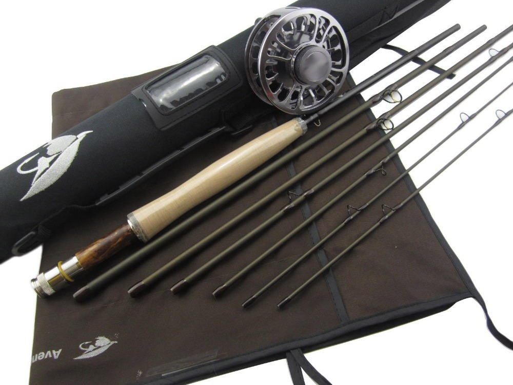 Aventik 4/5wt 8ft 6in 6 Sections With Extra Tip Section Best Travelling Fly Rod (without fly reel) free shipping 5 6 4 segments sections fly fishing rod full metal reel water proof rod bag lines box lure set kit