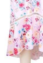 Sexy Women Off Shoulder Summer Dress Ruffles Floral Print Short Sleeve Ruched Party Mini Dresses Summer Dress 2019 Beach Dresses
