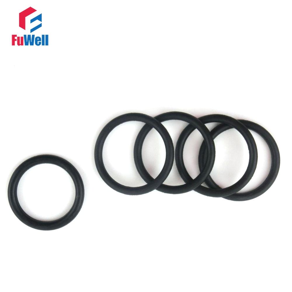 ୧ʕ ʔ୨50pcs 3mm Thickness Rubber O-ring Seals 80/82/85/88/90/92/95 ...