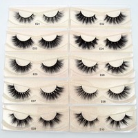 Real Lashes eyelash Mink natural extension for lashes Eyelashes handmade long soft 3D makeup mink Visofree volume E01