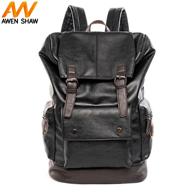 Men's Casual Bag High Quality Leather Shoulder Bags Backpack Mens Backpack Fashion Korean Style Popular Male Travel School Bag new fashion 2016 good pu leather backpack high quality school bag mens multifunction traveling shoulder bags smb598