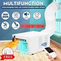 Desktop klimaanlage 1100W 220 V/AC Kalt/Wärme dual verwenden 24-stunde timer Mit fernbedienung control LED control panel + 1X Auspuff Schlauch