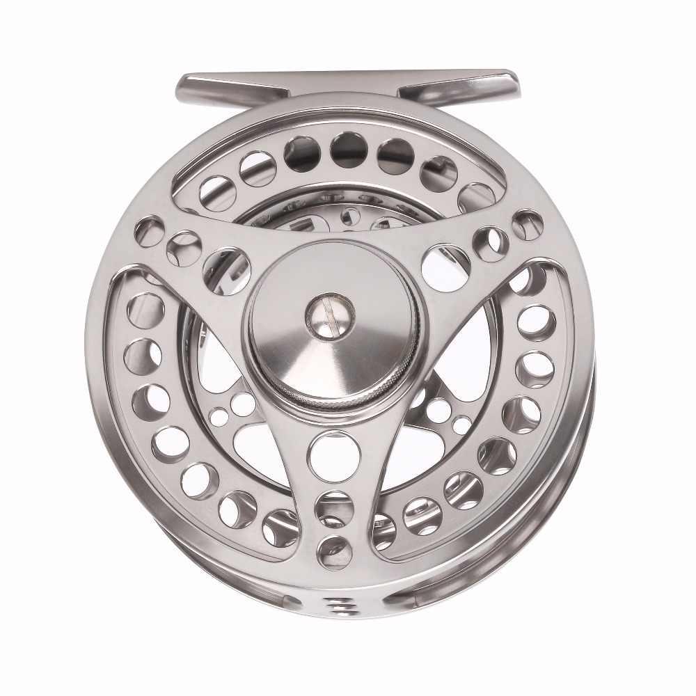 5//6 WT CNC Machined FLy Fishing Reels Mid Arbor Gunsmoke