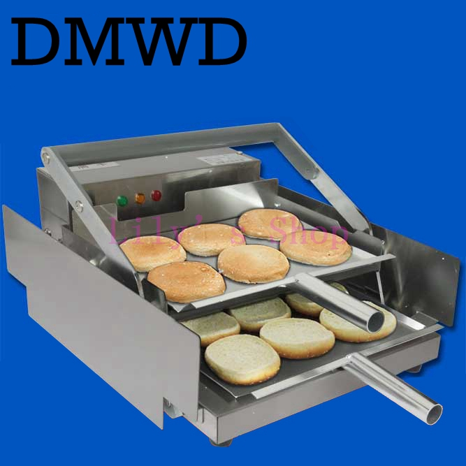 Commercial hamburg aluminum double toaster hamburger small toasted bread backing machine oven toaster burger toast EU US plug q