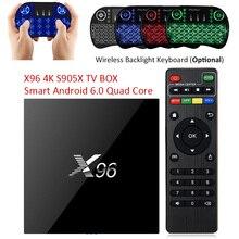 S905X Max X96 Android 6.0 TV Box Amlogic 2 GB RAM + 16 GB ROM Quad Core WIFI HDMI 4 K * 2 K HD Smart Set Top BOX Media Player PK A95X