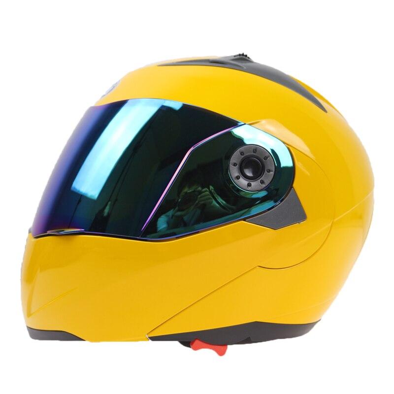 JIEKAI brand flip up motorcycle helmet Double glass helmet Street bike racing bike full face helmet