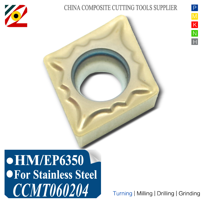 Inserti in metallo duro EDGEV 10PCS CCMT060202 CCMT060204 CCMT2151 Utensili di tornitura alesatura a tornio CNC indicizzabili Acciaio inossidabile tungsteno