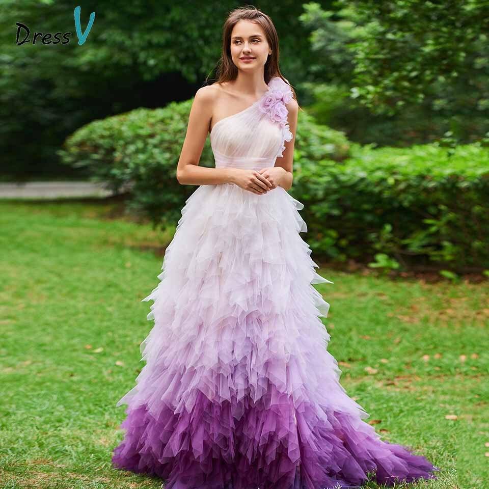 Dressv вечернее платье на одно плечо, а силуэта, без рукавов, длиной до пола, с драпировкой, с цветами, для свадебной вечеринки, формальное плать