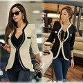 V-образным вырезом Случайные Куртки Верхняя Одежда Женская Мода Тонкий Пальто С Длинным Рукавом PJ1002A