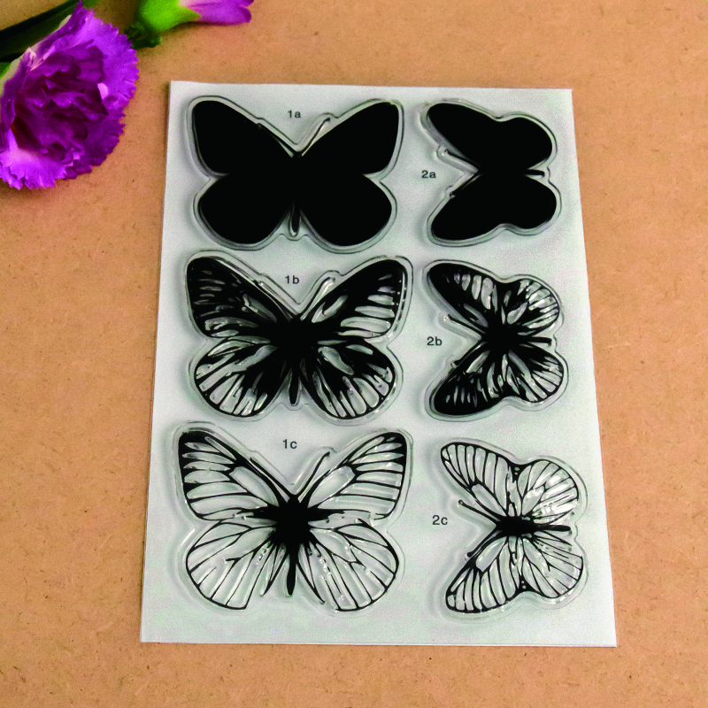 Scrapbook DIY photo cards account rubber stamp clear stamp finished transparent chapter Various styles of Butterflies  11*16 scrapbook diy photo cards account rubber stamp clear stamp finished transparent chapter cute cats 11 20