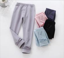 Girls Leggings Baby Girl Pants Spring autumn children's clothing Cuffed bow Cotton trousers Ruffles pant Baby Kids Pants EX91